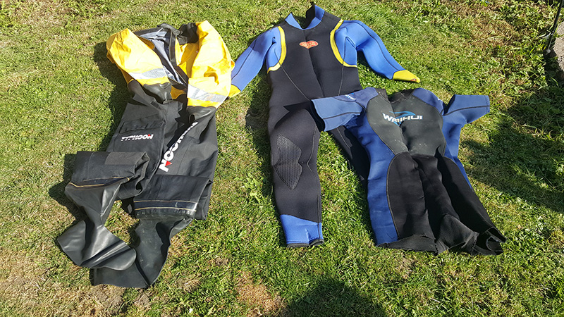 wetsuit on kayak fishing uk